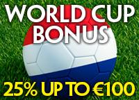 25% Bonus Nederland-Costa Rica