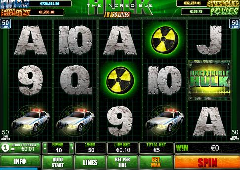 The Incredible Hulk videoautomaat