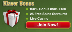 Stortingsbonus Klaver Casino