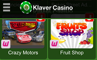 Klaver Mobiel Casino