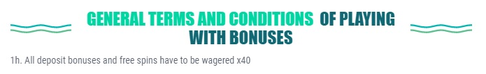 Wagering Requirement Spinia