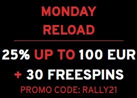Maandag Reload Bonus