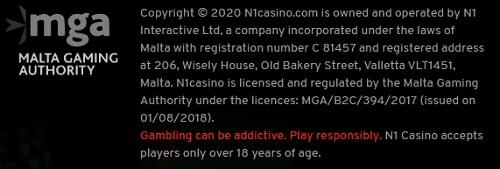 N1 Casino Bonus Betrouwbaar