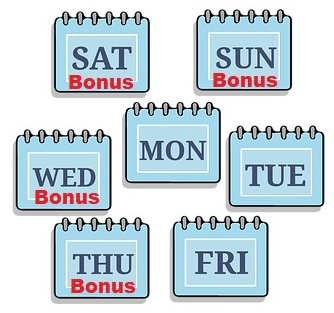 Wekelijkse Bonussen