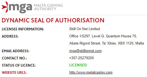 Metal Casino Bonus Betrouwbaar