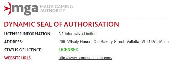 Samosa Casino Bonus Betrouwbaar
