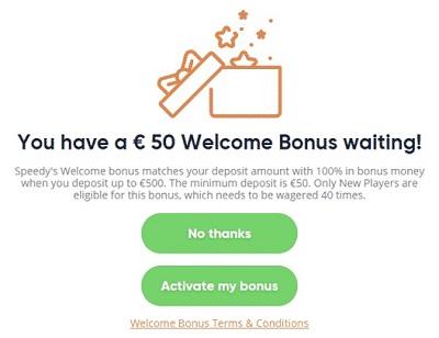 Geen bonuscode nodig