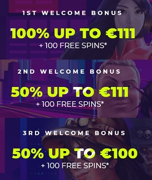 NightRush Casino Welkomstbonus